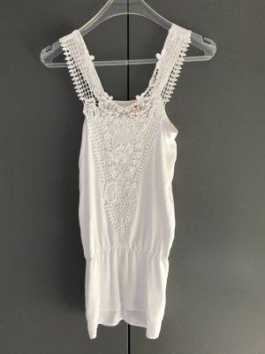 Please Camisa de mujer blanco Viscosa
