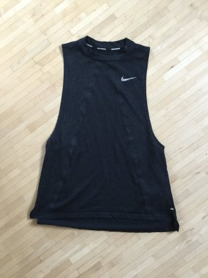 Nike Top deportivo sin mangas negro-blanco
