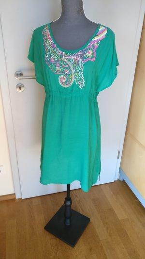 Tolles Strandkleid Sommerkleid Tunika aus Seide von topshop grün, Gr. M Hippie Ibiza Style