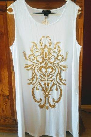 Pompöös by Harald Glöckler Vestido elástico blanco-color oro