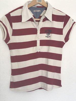 Tommy Hilfiger Denim Polo shirt wit-bordeaux