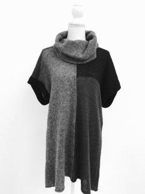 Tolles Strickkleid von Luisa Cerano, grau-schwarz, Gr. S, Wolle
