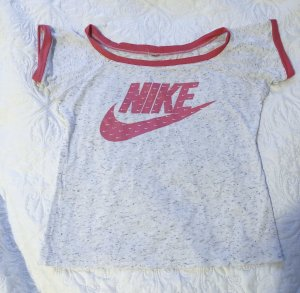Nike T-Shirt raspberry-red-light grey