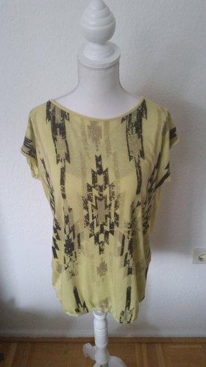 Tolles T-shirt von Fornarina mit Ethnoprint & tollem Rückenausschnitt