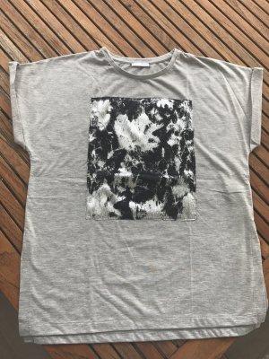 Zara Camisa holgada gris claro
