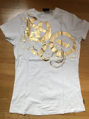 Tolles T-Shirt weiss/gold Gr. M