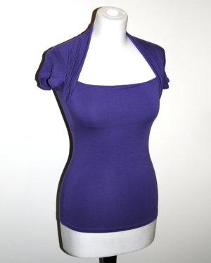 Zara Top bleu violet-violet
