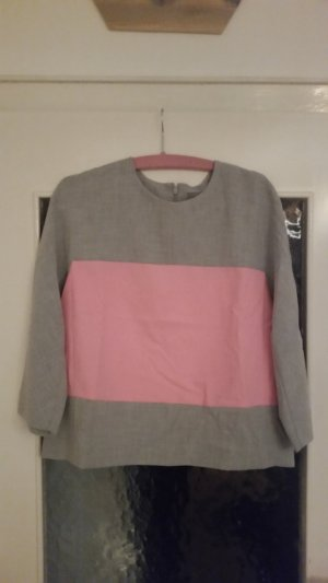 COS Blusa grigio chiaro-rosa