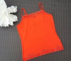 Tuzzi Haut à fines bretelles orange tissu mixte