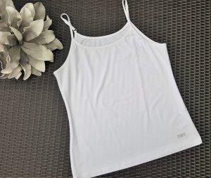 Tuzzi Haut à fines bretelles blanc tissu mixte