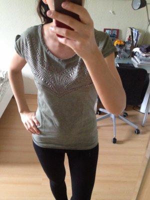 Camiseta gris verdoso-color plata