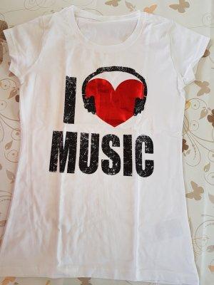 """Tolles Tshirt, neu, nie getragen. sehr guter Zustand """"I love music"""""""