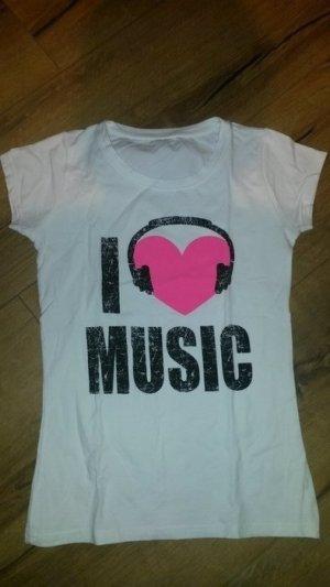 """Tolles Tshirt, neu, nie getragen. sehr guter Zustand - neuwertig - """"I love music"""""""