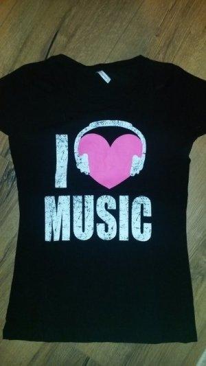 """Tolles Tshirt, neu, nie getragen. sehr guter Zustand -neuwertig- """"I love music"""""""