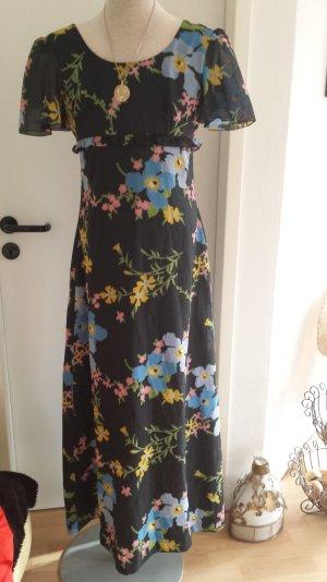 Tolles Vera Mont Paris Abendkleid Maxikleid Kleid Blumen Coktail Vintage 70er