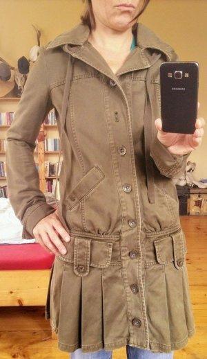 Tolles Vintage Military Mantelkleid mit Riesenkapuze von Diesel