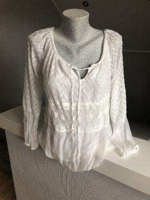 Tolles weißes Shirt mit Spitze, top Zustand