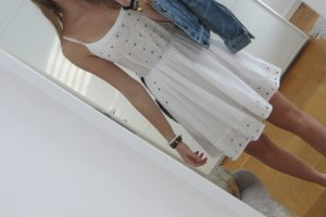Bershka Vestido playero blanco