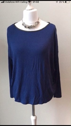 Anne L. Oversized shirt blauw-donkerblauw Viscose