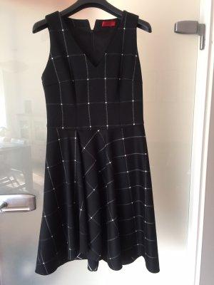 Hugo Boss A-lijn jurk zwart-wit Katoen