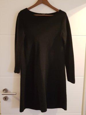 Hallhuber Vestido de lana negro