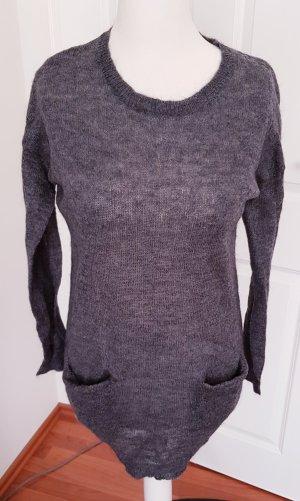 Saint Tropez Vestito di lana grigio-grigio scuro