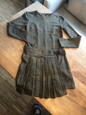 Zara Woman Robe en laine vert foncé-gris vert laine
