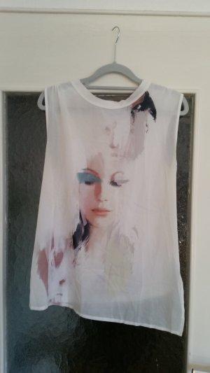 Tolles Zara Oberteil mit asymmetrischem Schnitt und schönem Print