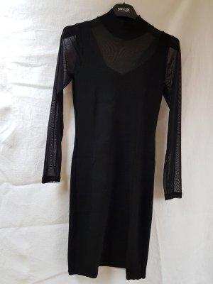 Mango Cut Out Dress black polyacrylic