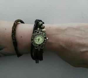 tollr neue Vintage Uhr mit Lederarmband