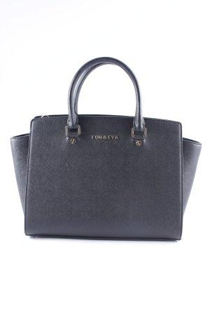 Tom & Eva Paris Handtasche schwarz-goldfarben Business-Look