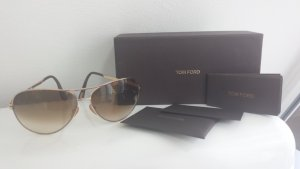 Tom Ford Aviator Glasses gold-colored-light brown