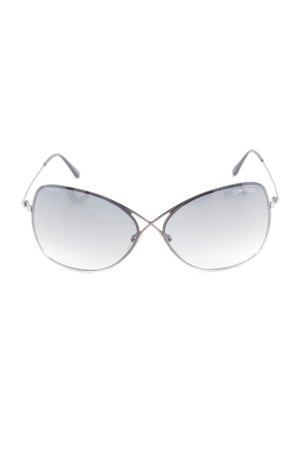 Tom Ford eckige Sonnenbrille anthrazit Street-Fashion-Look