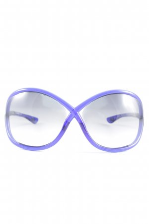 Tom Ford eckige Sonnenbrille blau Casual-Look