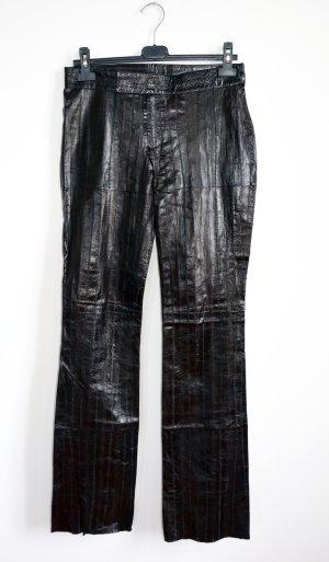 Gucci Leren broek donkerbruin Leer