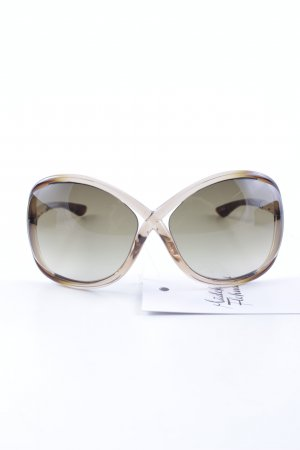 Tom Ford ovale Sonnenbrille cognac-goldfarben Beach-Look