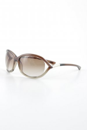 Tom Ford ovale Sonnenbrille hellbraun Casual-Look
