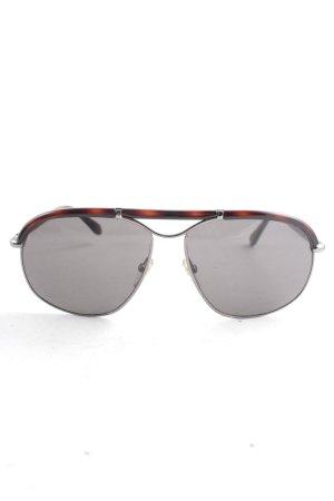 Tom Ford ovale Sonnenbrille schwarz-braun Elegant