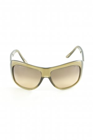 Tom Ford Panto Brille olivgrün Casual-Look