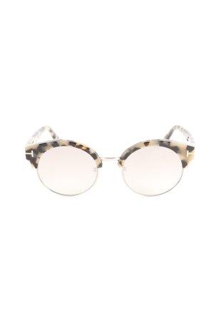 Tom Ford Retro Brille schwarz-creme abstraktes Muster Street-Fashion-Look