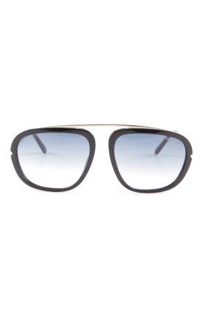 Tom Ford Retro Brille schwarz-graublau Retro-Look
