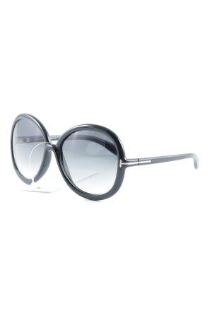 Tom Ford Occhiale da sole rotondo nero stile classico