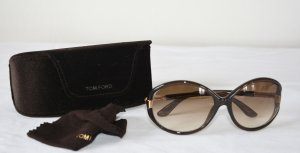 Tom Ford Oval Sunglasses brown synthetic material