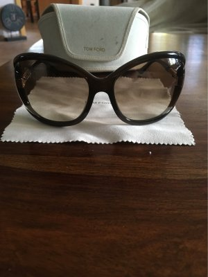Tom Ford Round Sunglasses brown-gold-colored