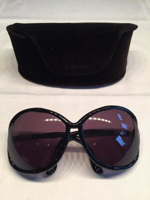 "Tom Ford Sonnenbrille ""Claudia"" TF75 Bamboo-Look schwarz"