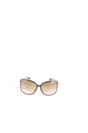 Tom Ford ovale Sonnenbrille dunkelgrün-goldfarben Elegant