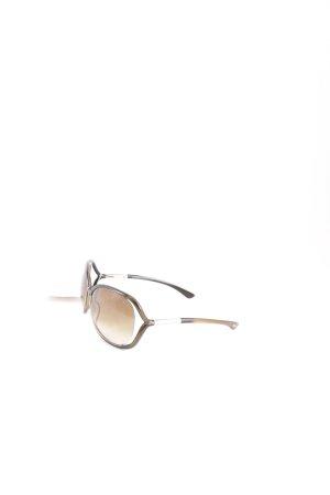Tom Ford Sonnenbrille dunkelgrün-goldfarben Elegant