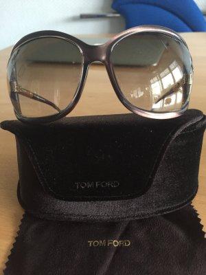 Tom Ford Sonnenbrille hellbraun mit Gold