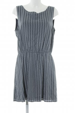 Tom Tailor A-Linien Kleid dunkelblau Ethnomuster Casual-Look