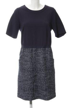 Tom Tailor A-Linien Kleid dunkelblau-weiß Casual-Look